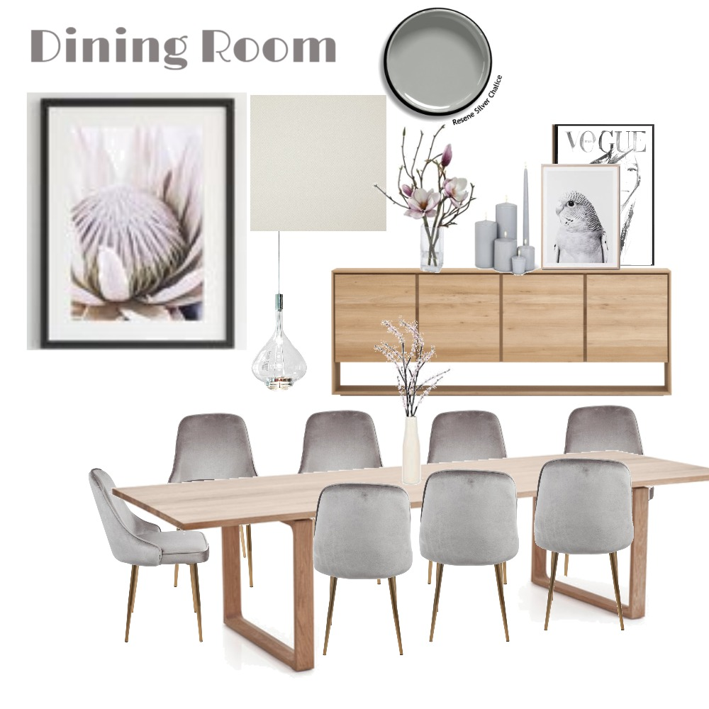 Dining Room Interior Design Mood Board by LGDesigns on Style Sourcebook