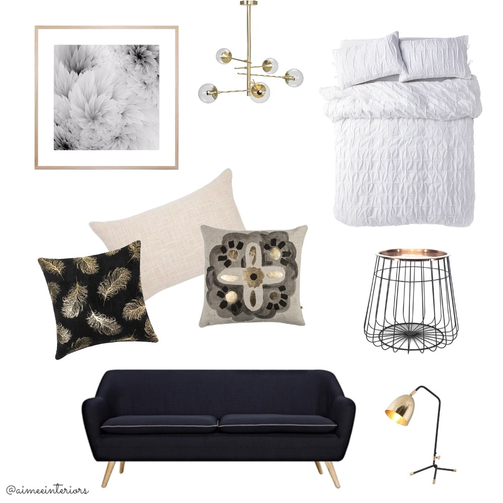 Luxe Bedroom Mood Board by Aimee & Co. Interior Styling on Style Sourcebook
