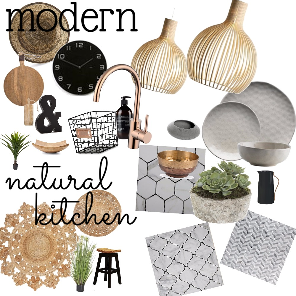 Modern natural kitchen Interior Design Mood Board by Fathima on Style Sourcebook