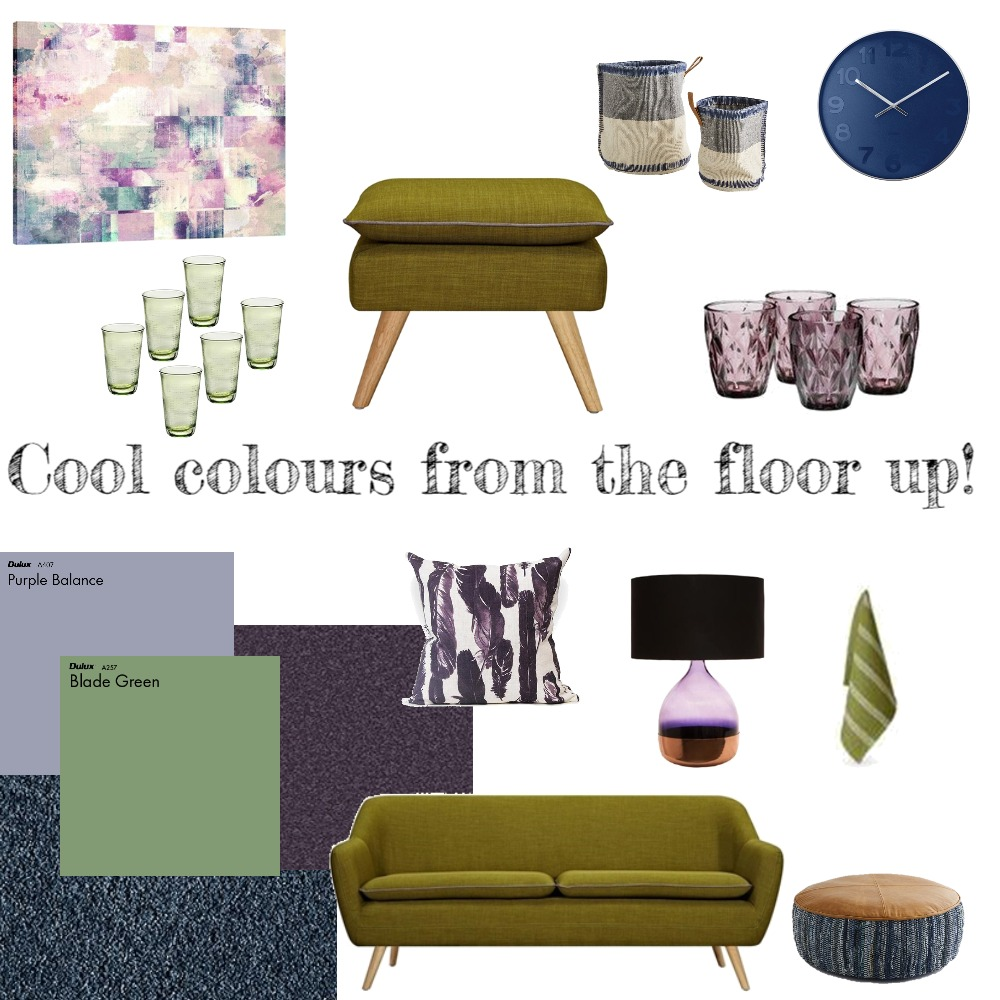 Cool coloured flooring! Interior Design Mood Board by Choices Flooring on Style Sourcebook
