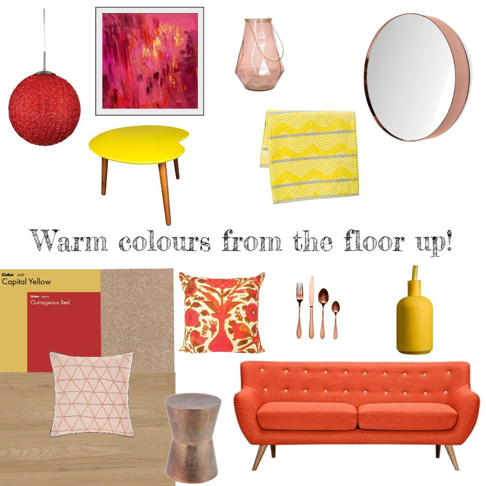 Warm colours from the floor up! Mood Board by Choices Flooring on Style Sourcebook