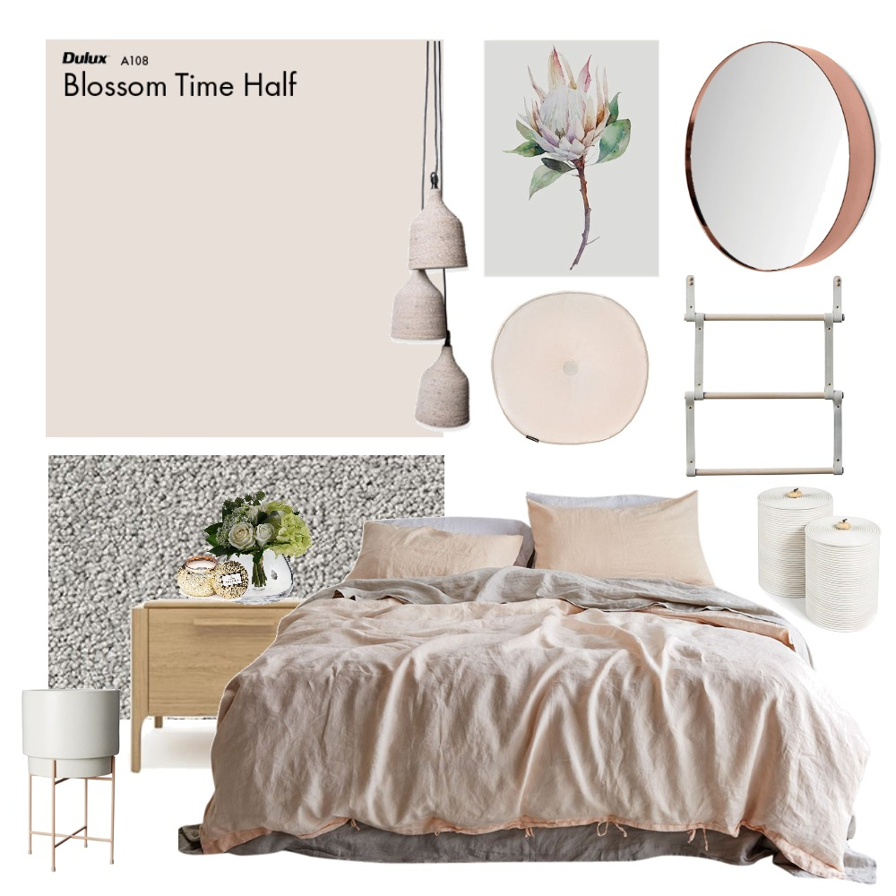 Muted pink Mood Board by Thediydecorator on Style Sourcebook