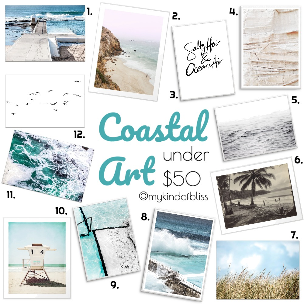 Coastal Art Under $50 Mood Board by My Kind Of Bliss on Style Sourcebook