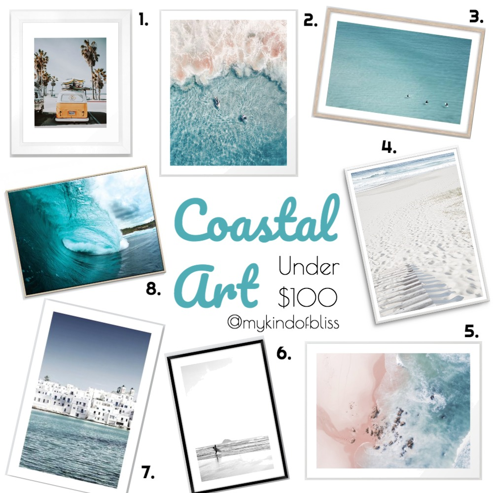 Coastal Art Under $100 Mood Board by My Kind Of Bliss on Style Sourcebook