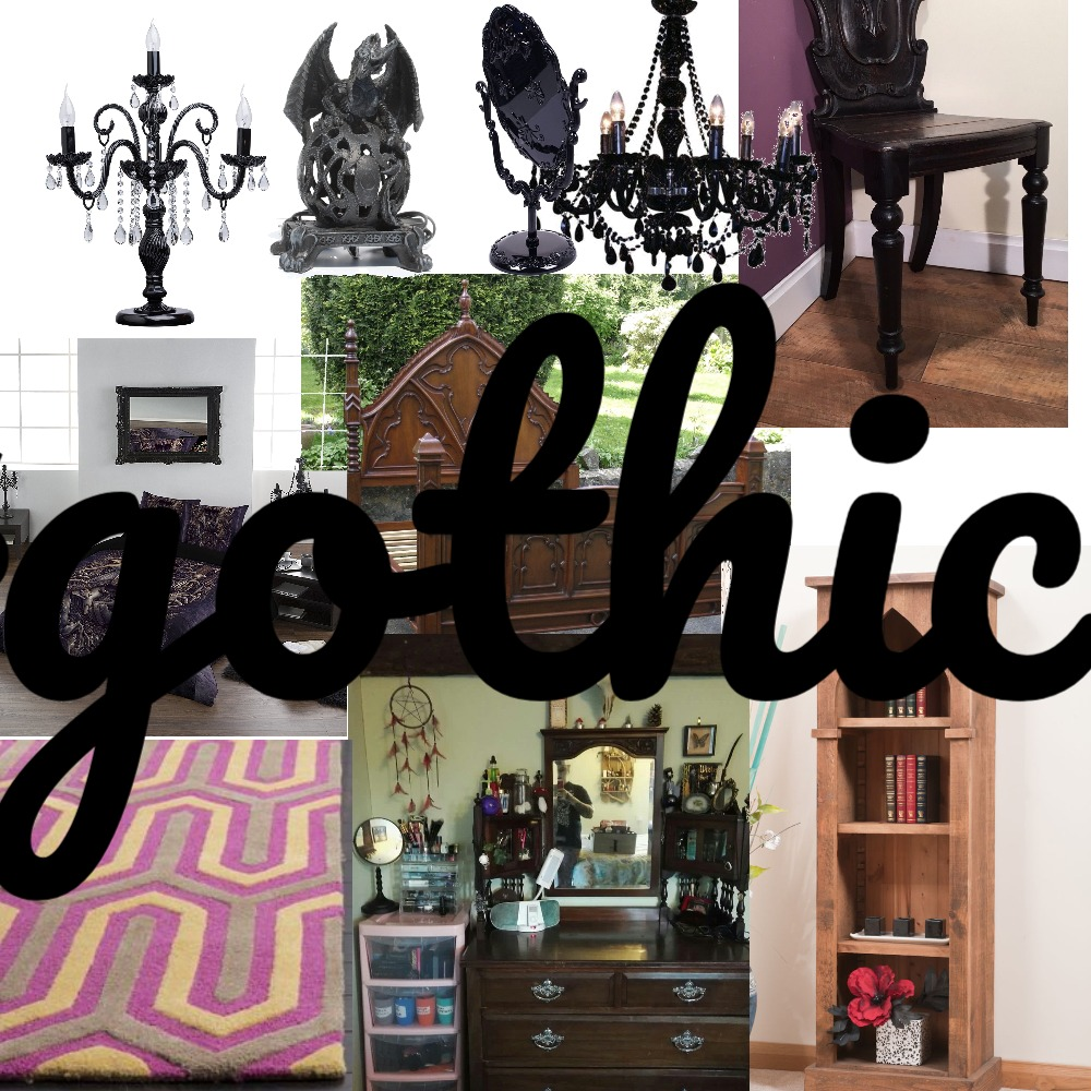 gothic bedroom Mood Board by SEVDA43 on Style Sourcebook