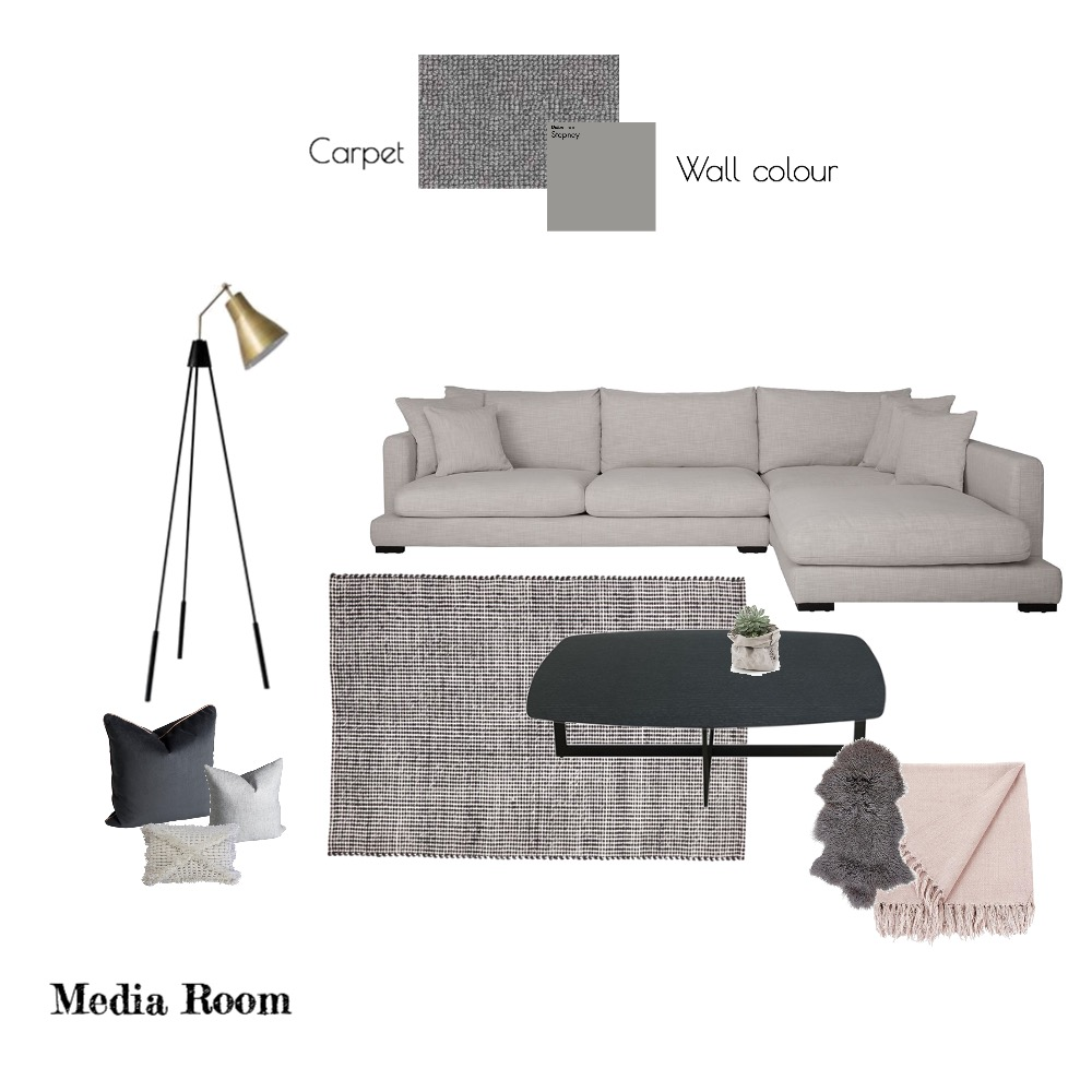 Media Room Mood Board by JessieCole23 on Style Sourcebook