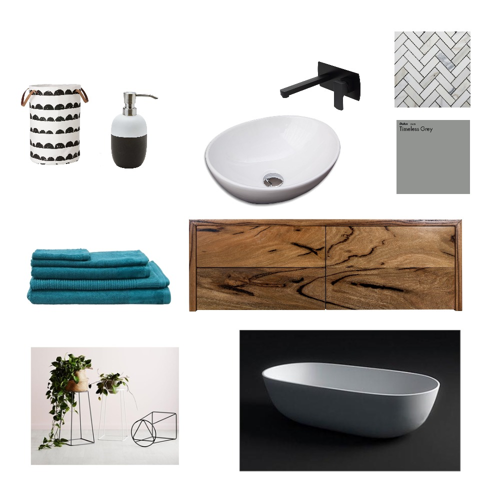 Herringbone Bathroom Mood Board by Kelly on Style Sourcebook