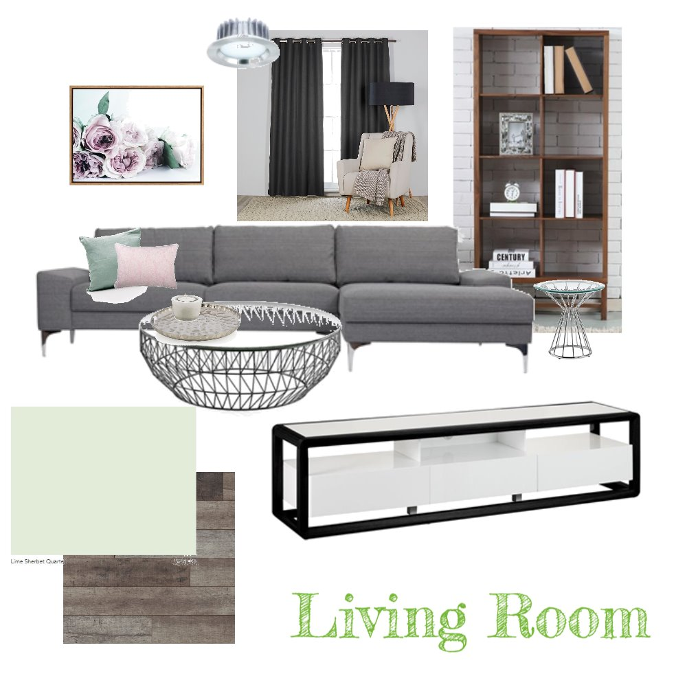 Living Room Interior Design Mood Board by JasmineButterfield1998 on Style Sourcebook