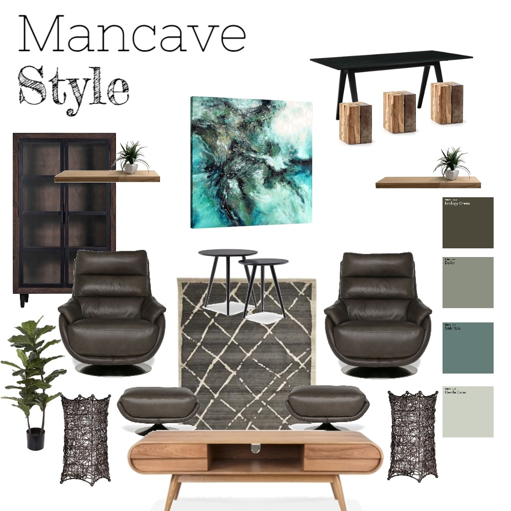 Mancave Style Mood Board by Kelly on Style Sourcebook