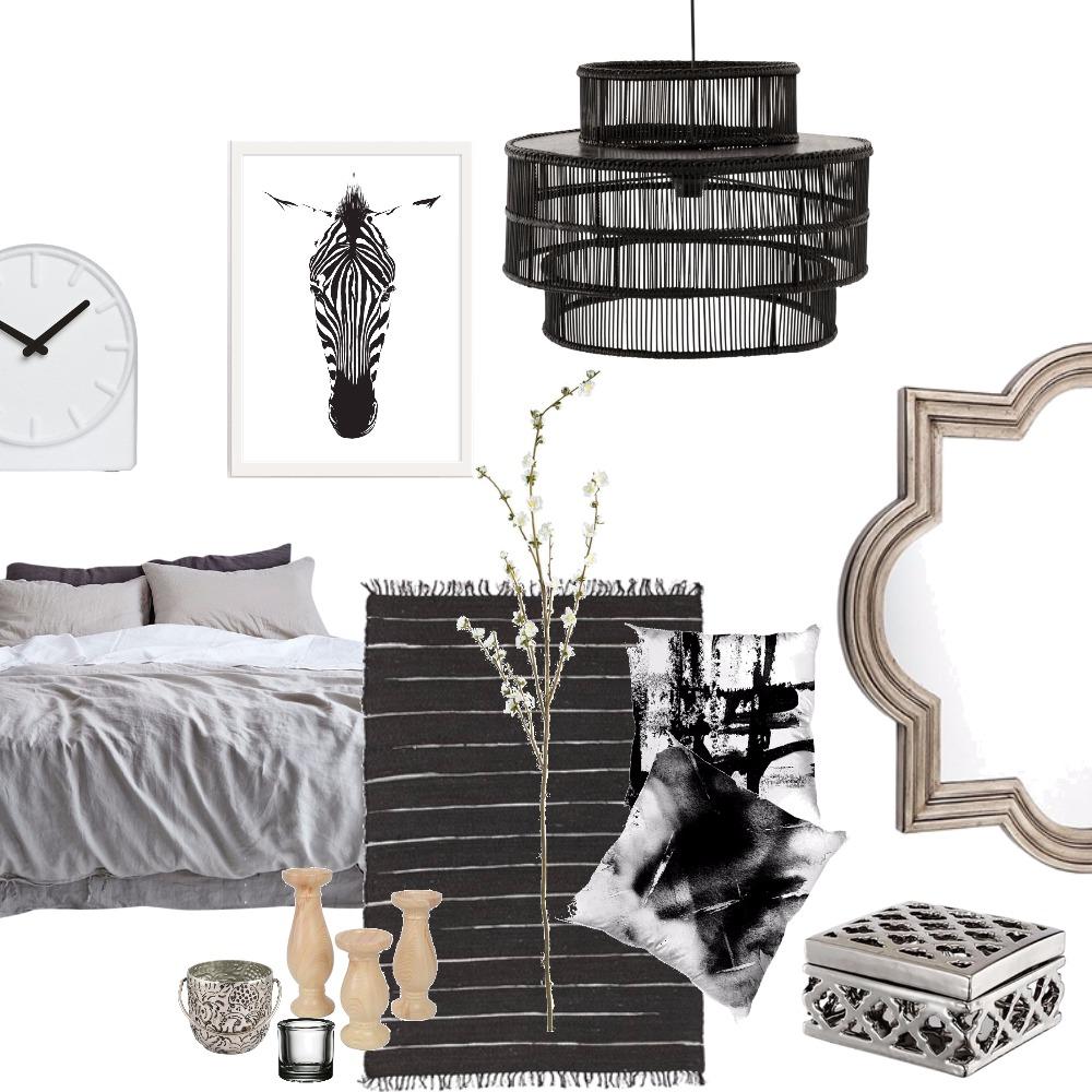 Boho black & white Mood Board by shanipalmai on Style Sourcebook