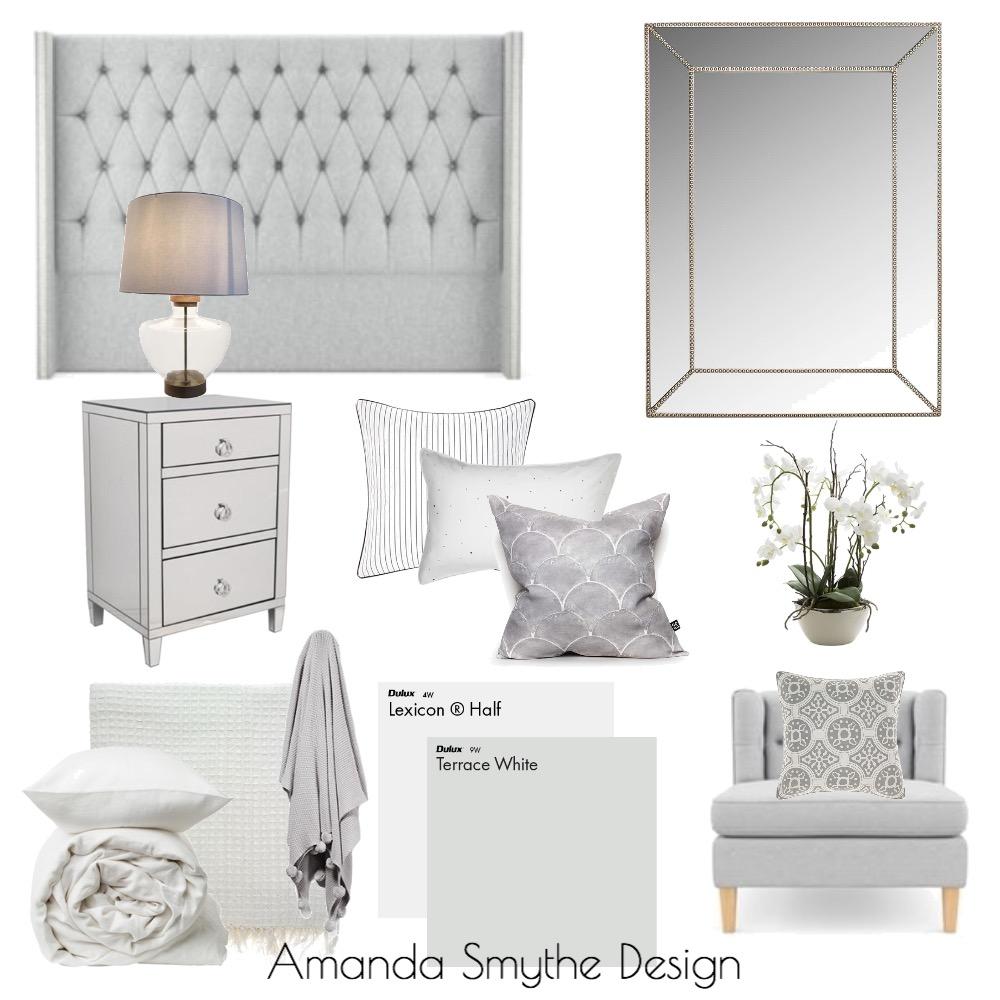 Master Bed in Greys Mood Board by Amanda Smythe Design on Style Sourcebook