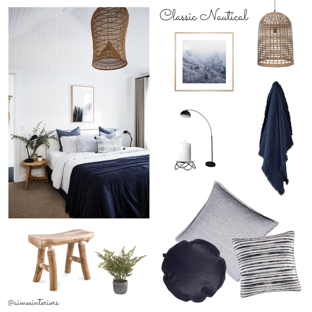 Classic Nautical Mood Board by Aimee & Co. Interior Styling on Style Sourcebook