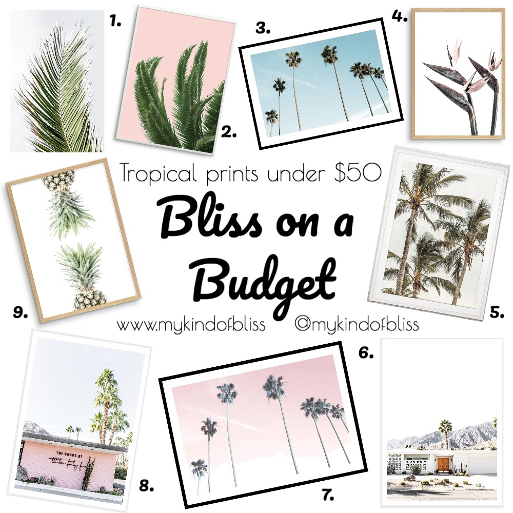 Bliss on a Budget-1- Tropical Prints Mood Board by My Kind Of Bliss on Style Sourcebook