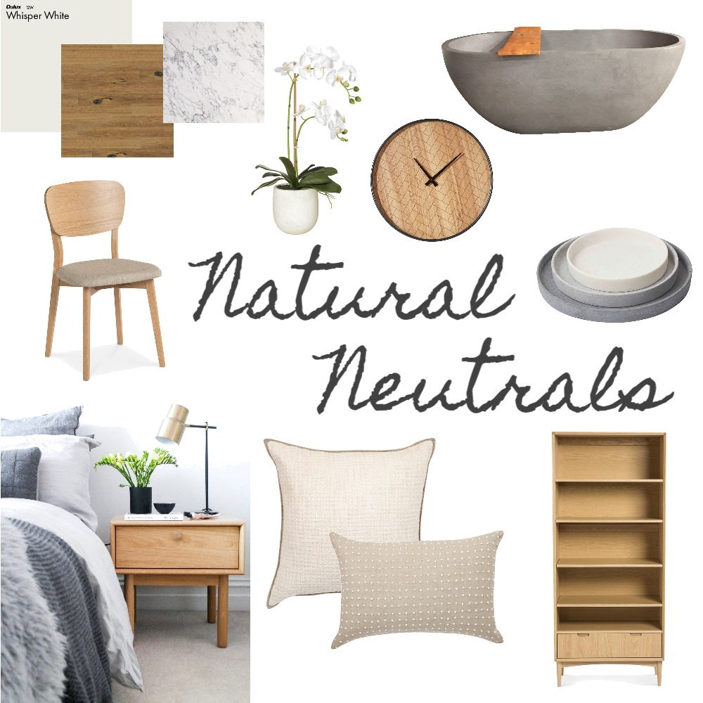 Natural Neutrals Interior Design Mood Board by @thedesigneditau on Style Sourcebook