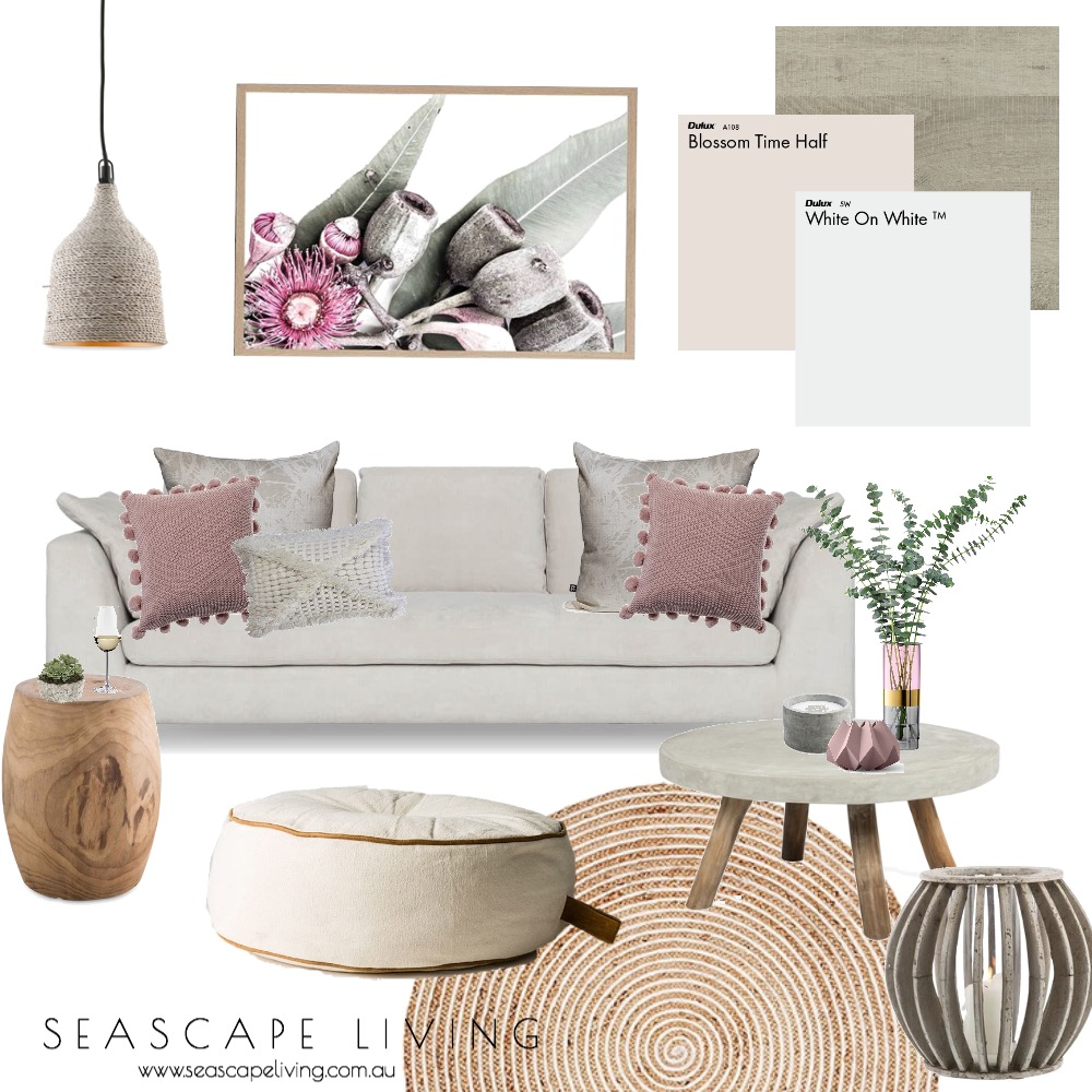 Blush Lounge Mood Board by Seascape Living on Style Sourcebook