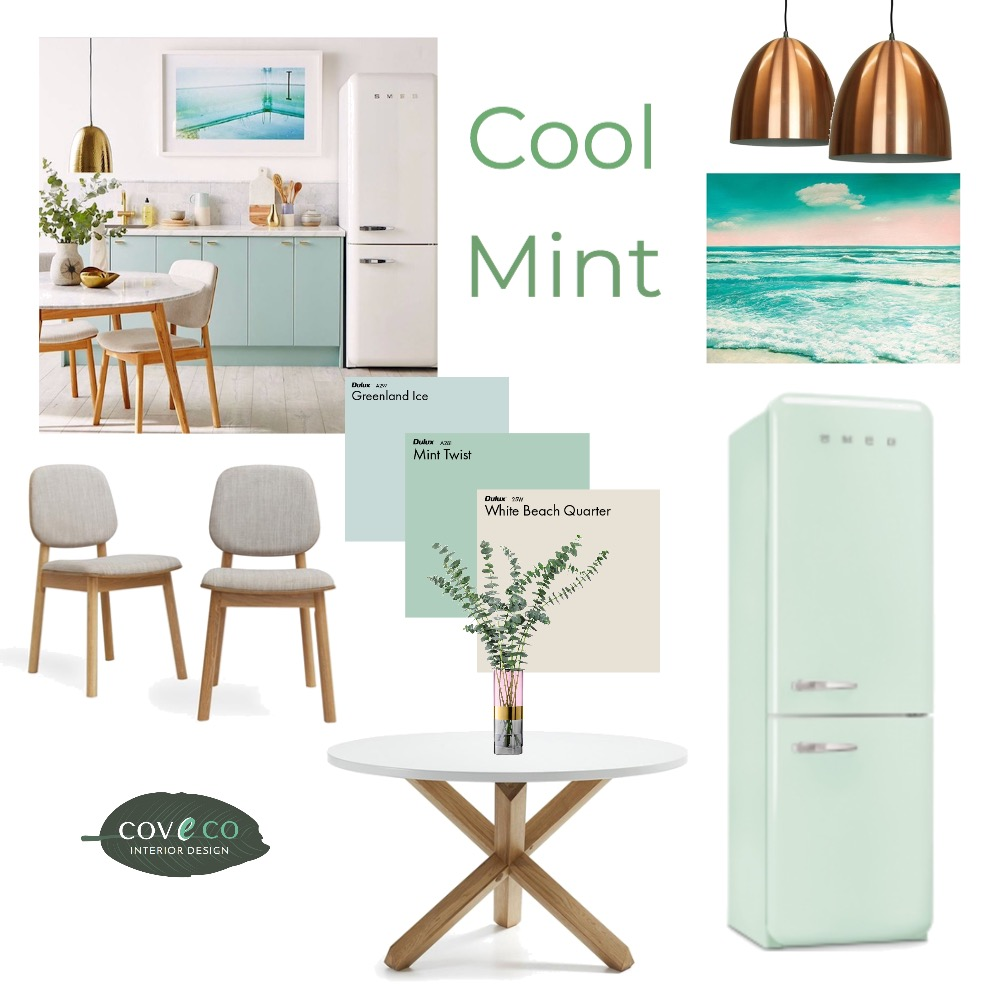 Cool Mint Interior Design Mood Board by Coveco Interior Design on Style Sourcebook