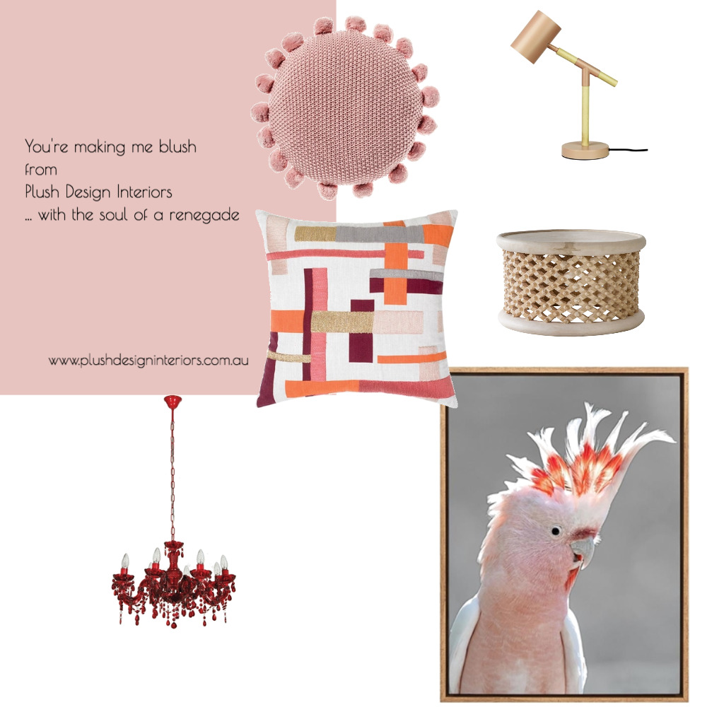 You make me blush from Plush Design Interiors Mood Board by Plush Design Interiors on Style Sourcebook