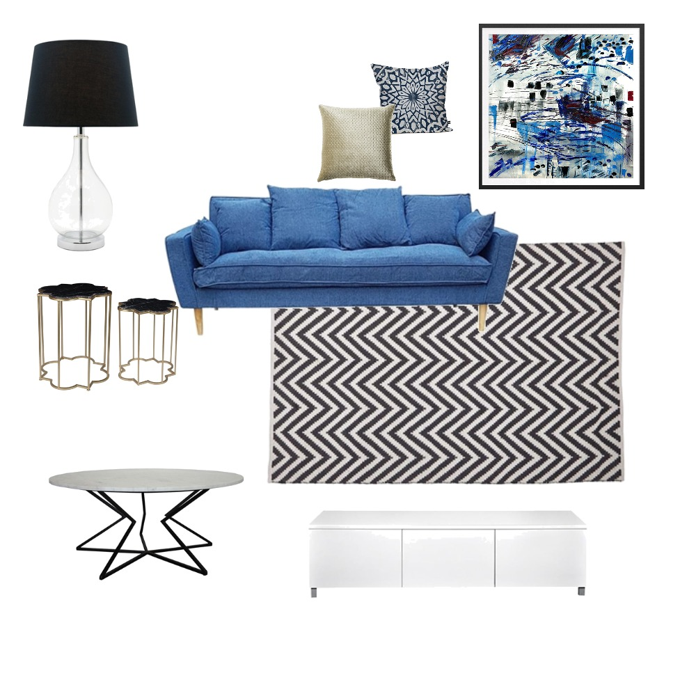 Blue Lounge Mood Board by skariko on Style Sourcebook