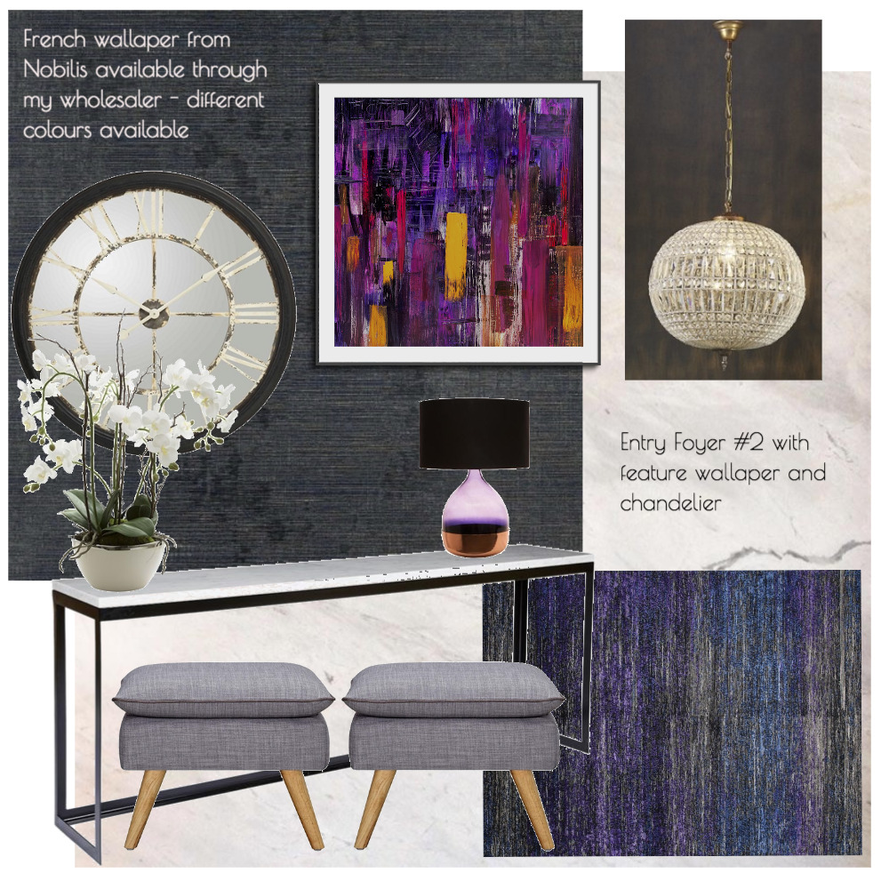 Lina and Quang Entry Foyer #2 Interior Design Mood Board by Plush Design Interiors on Style Sourcebook