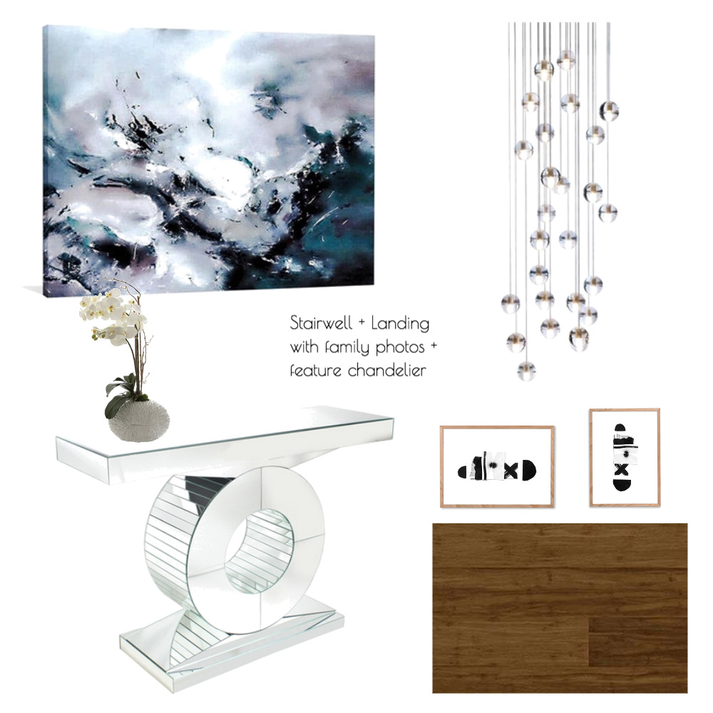 Lina and Quang Stairwell + Landing Mood Board by Plush Design Interiors on Style Sourcebook