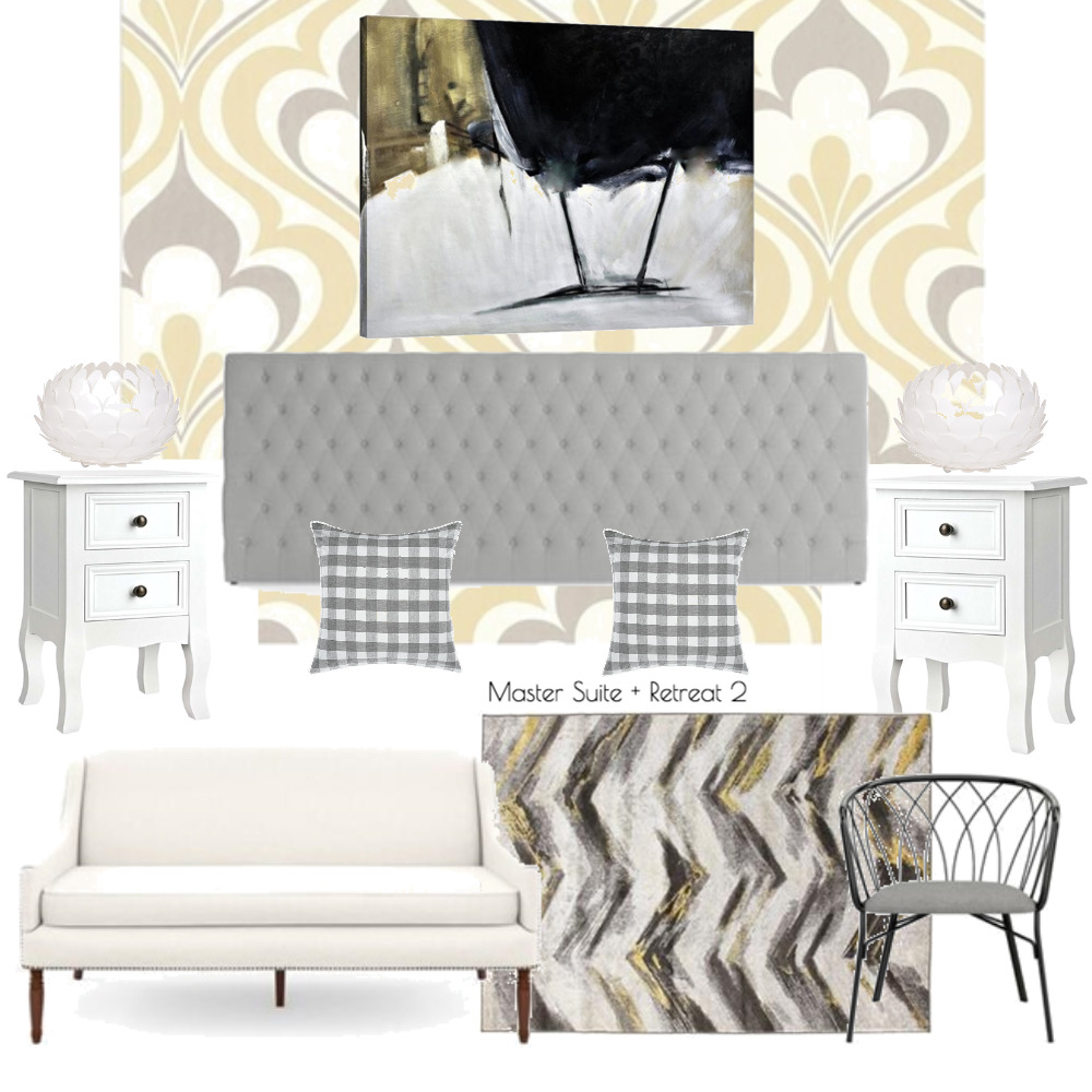 Lina and Quang Master Suite + Retreat v.2 Mood Board by Plush Design Interiors on Style Sourcebook