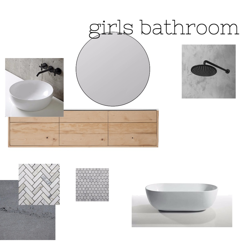 girls bathroom Mood Board by jocekel on Style Sourcebook