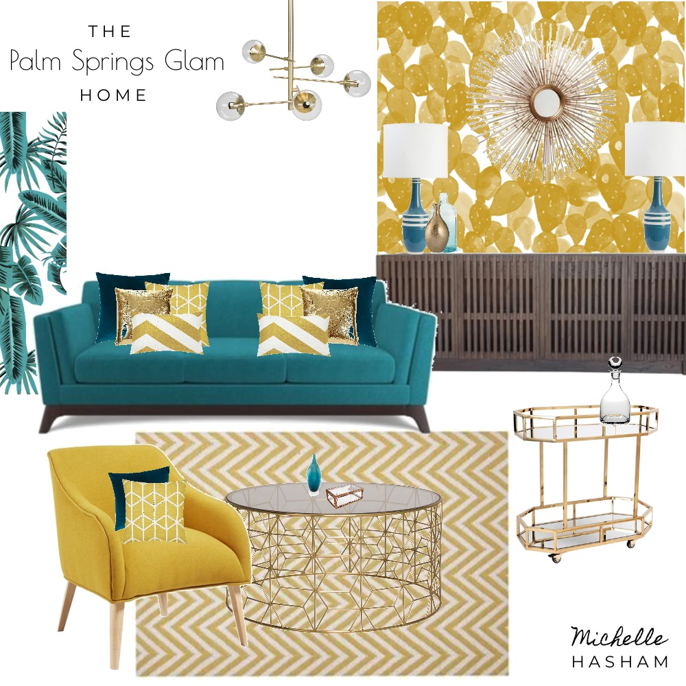 The Palm Springs Home Mood Board by Michelle Hasham on Style Sourcebook