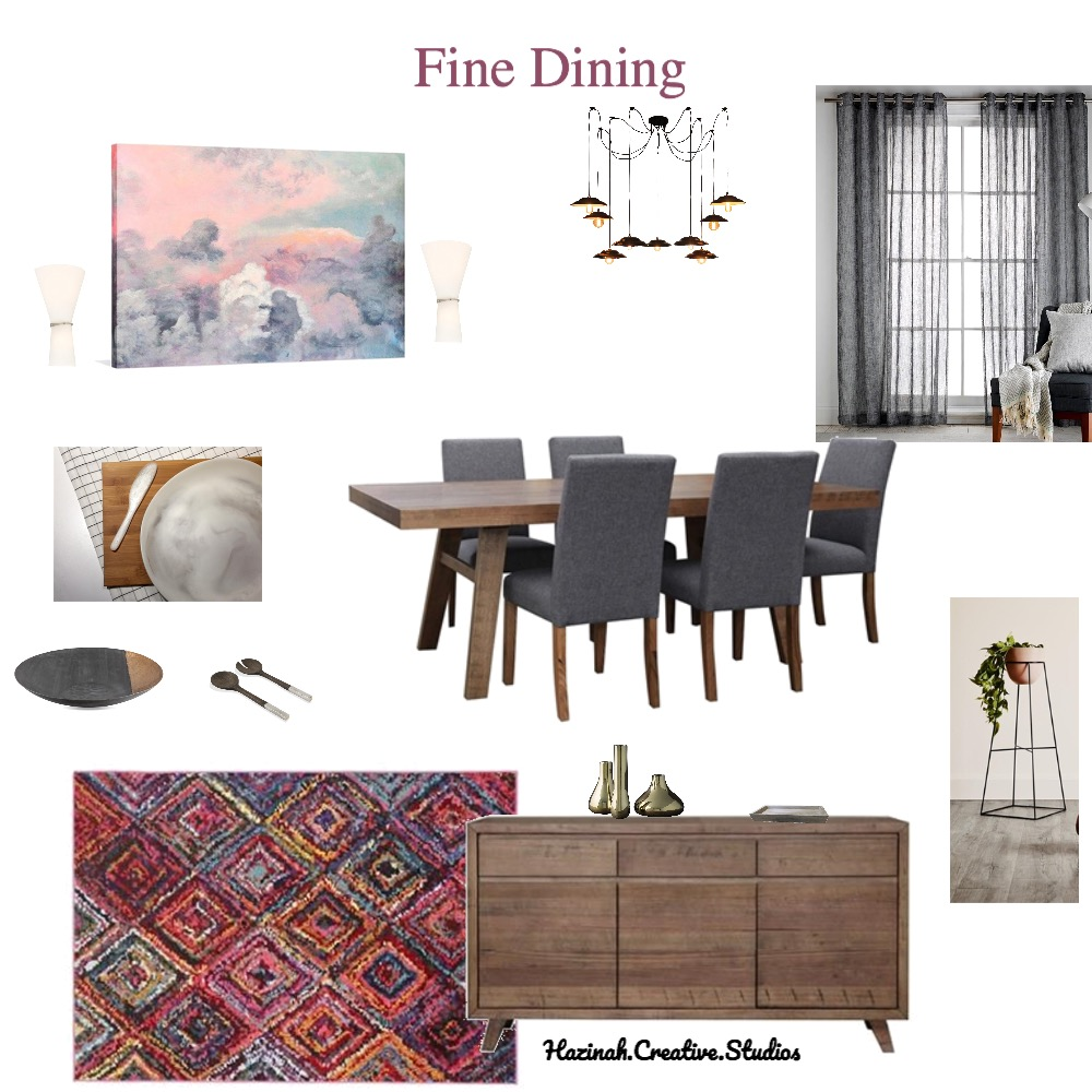 Fine Dining Interior Design Mood Board by Gugz on Style Sourcebook