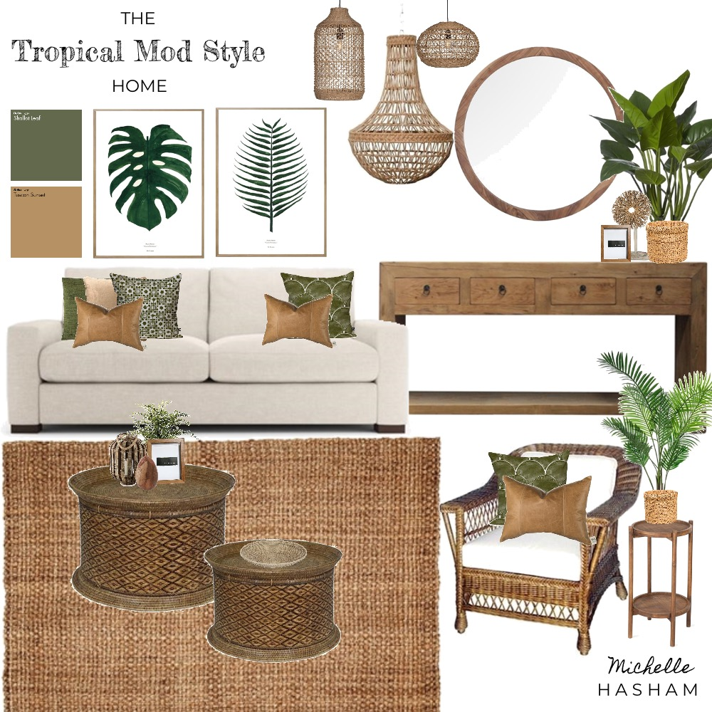 The Tropical Style Home Mood Board by Michelle Hasham on Style Sourcebook