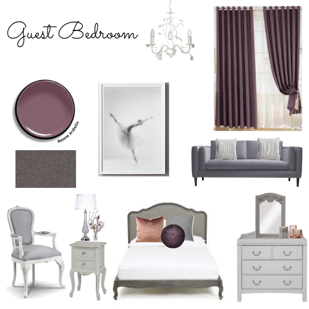 Guest Bedroom Interior Design Mood Board by LGDesigns on Style Sourcebook