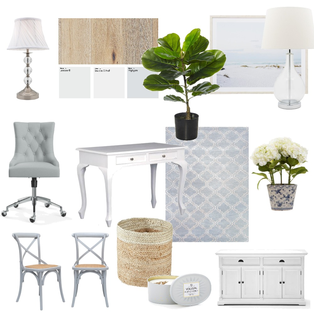 Hayley's Hamptons Office Moodboard Interior Design Mood Board by hayleyrichardson on Style Sourcebook