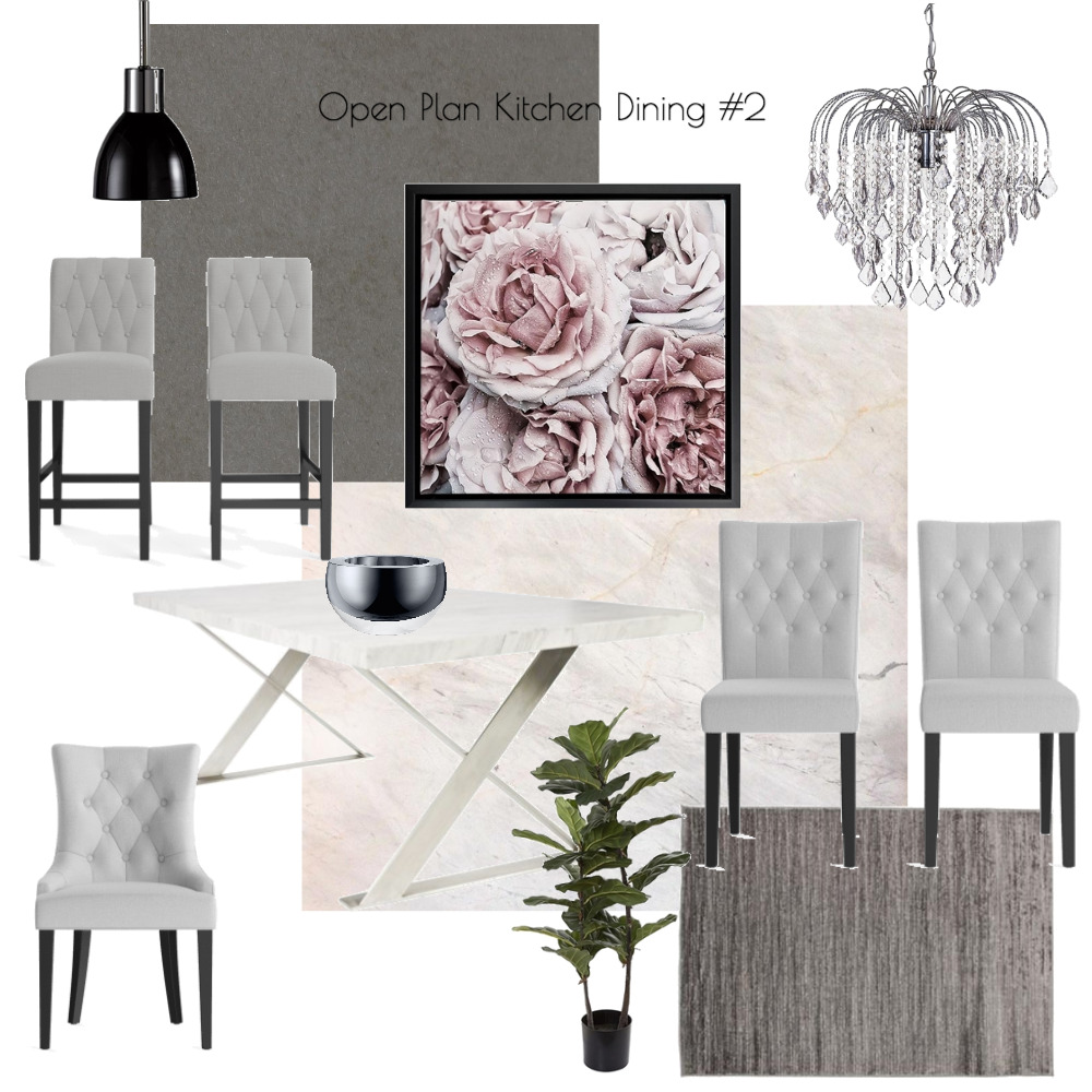 Lina and Quang Open Plan Kitchen Dining #2 Interior Design Mood Board by Plush Design Interiors on Style Sourcebook
