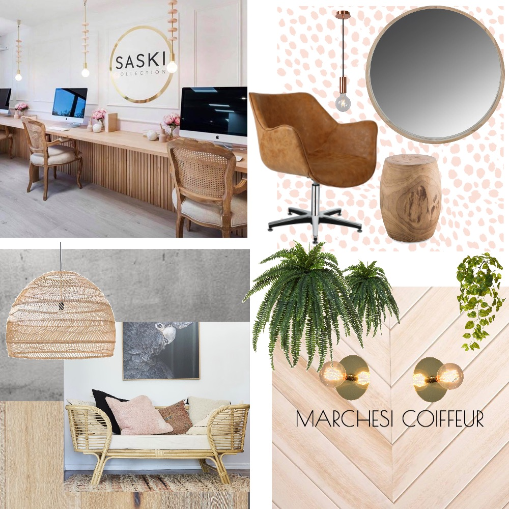 Marchesi Hair Studio Fit Out Mood Board by Renovation Road on Style Sourcebook