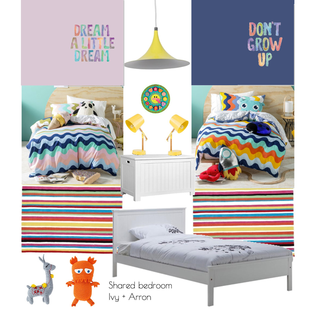 Shared bedroom for Ivy + Arron Interior Design Mood Board by Plush Design Interiors on Style Sourcebook