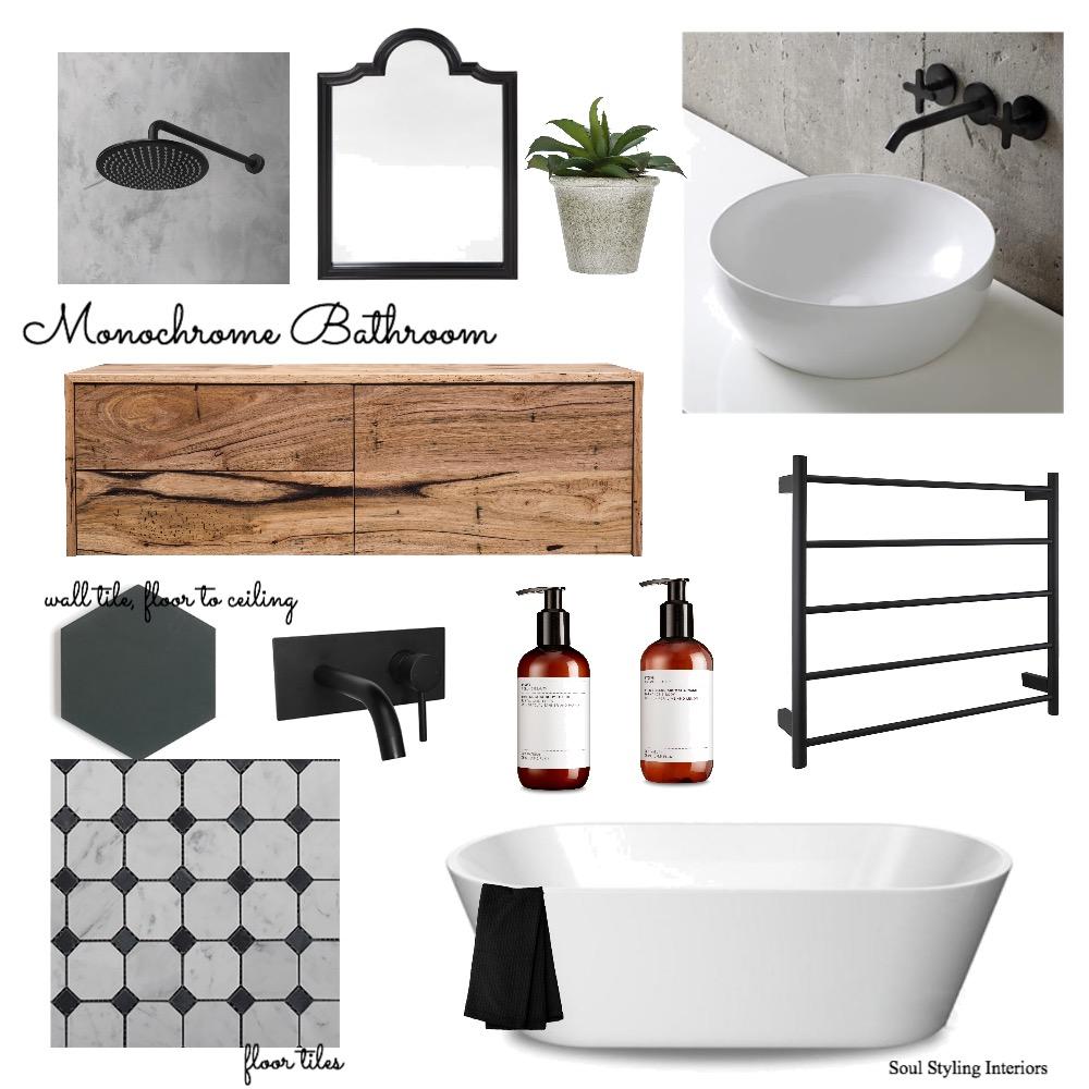 Monochrome bathroom Mood Board by Krysti-glory90 on Style Sourcebook