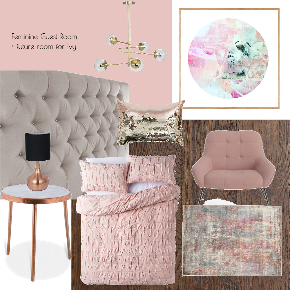 Lina and Quang Guest Room + Future Ivy Room Interior Design Mood Board by Plush Design Interiors on Style Sourcebook
