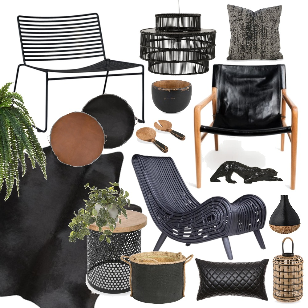 Black on Black Mood Board by Thediydecorator on Style Sourcebook