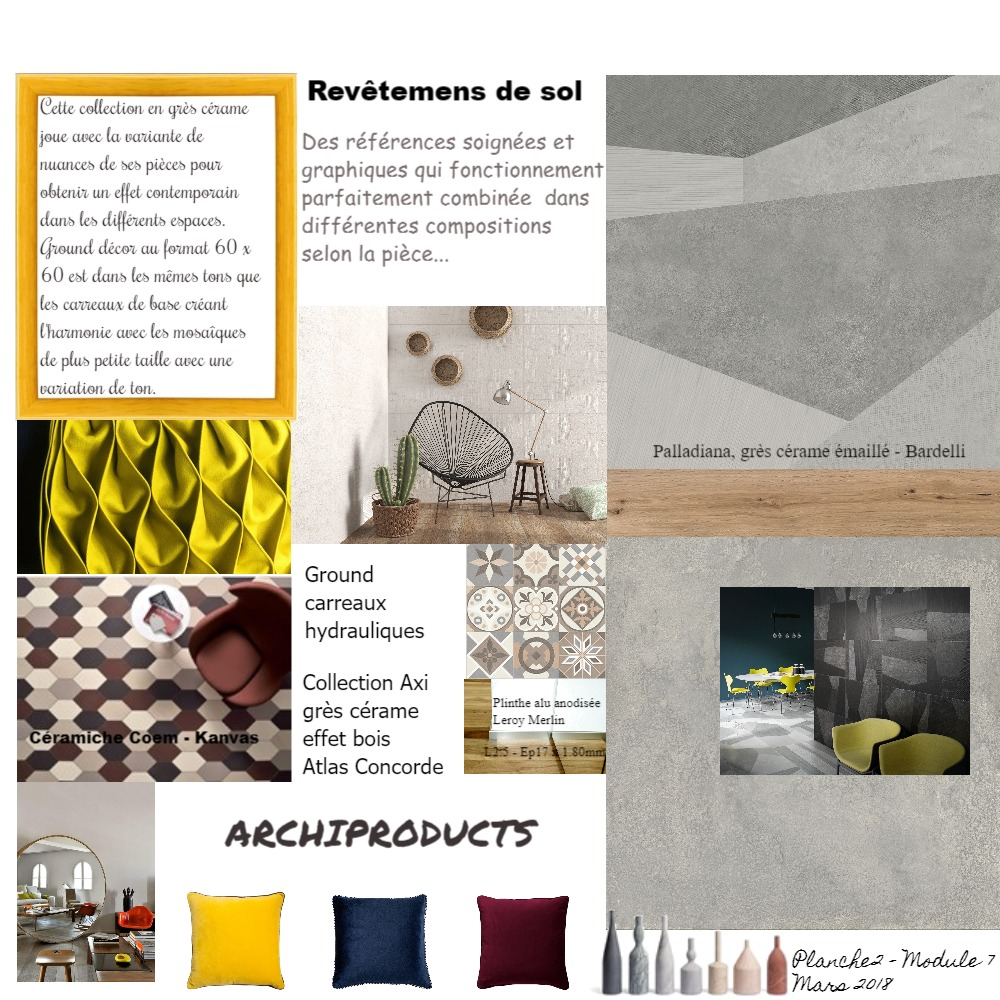 PLANCHE REVETEMENTS DE SOL Mood Board by ABARNOUSSI on Style Sourcebook