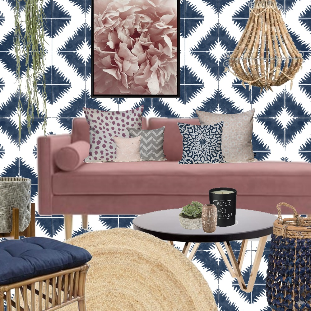 Pink and Blue Interior Design Mood Board by Grace Garrett on Style Sourcebook