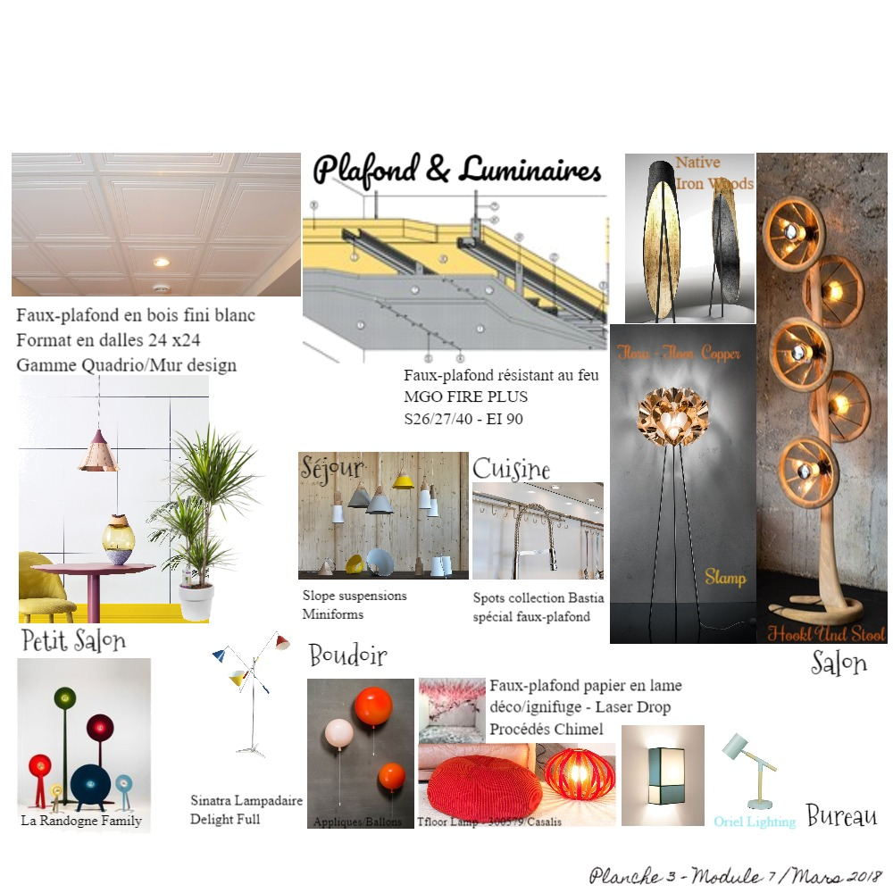 PLANCHE PLAFOND & LUMINAIRES Mood Board by ABARNOUSSI on Style Sourcebook