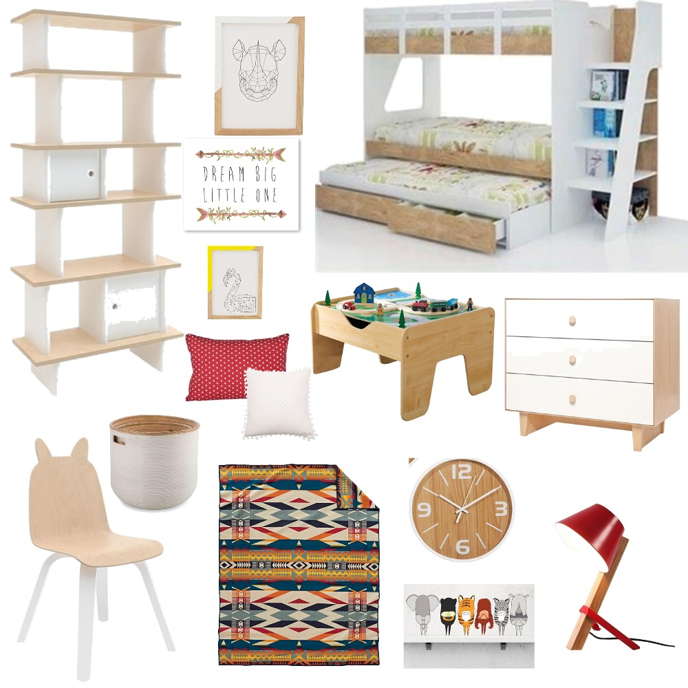 white and wood kids room Mood Board by Ayesha on Style Sourcebook