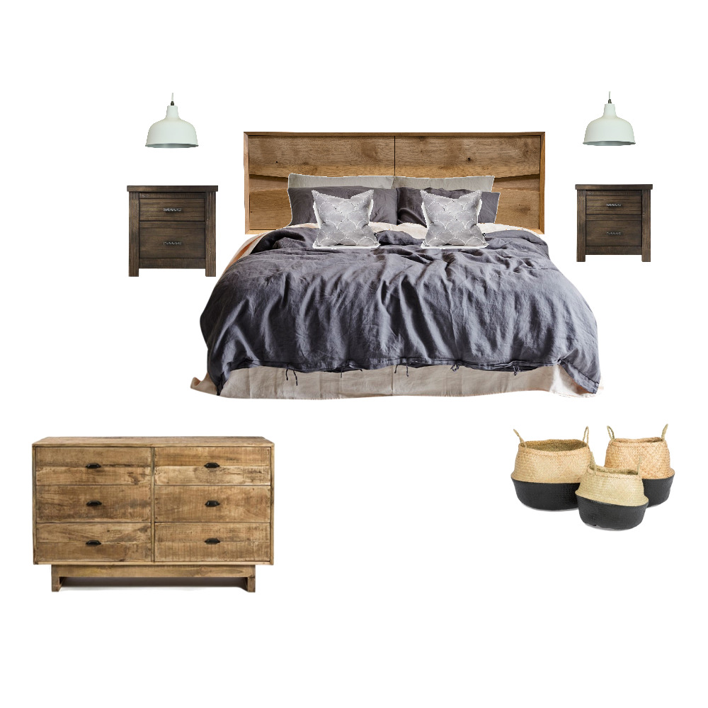 Rustic Bedroom Mood Board by The Home Collective on Style Sourcebook