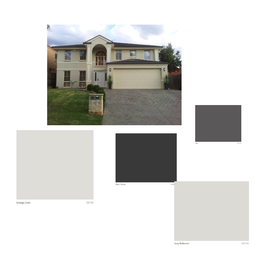 House Exterior - Option 1 Mood Board by wheels_dollbaby on Style Sourcebook