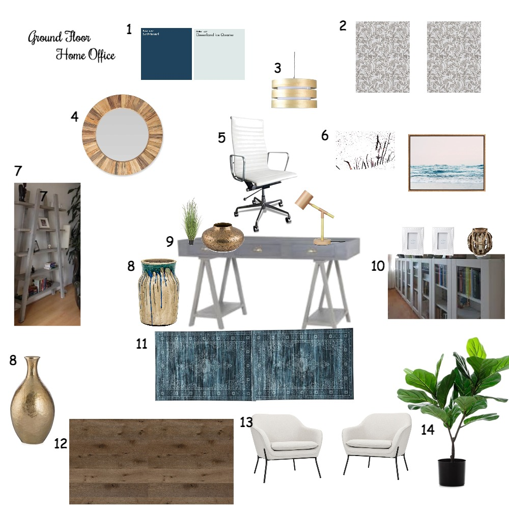 Home Office Interior Design Mood Board by kgamble on Style Sourcebook
