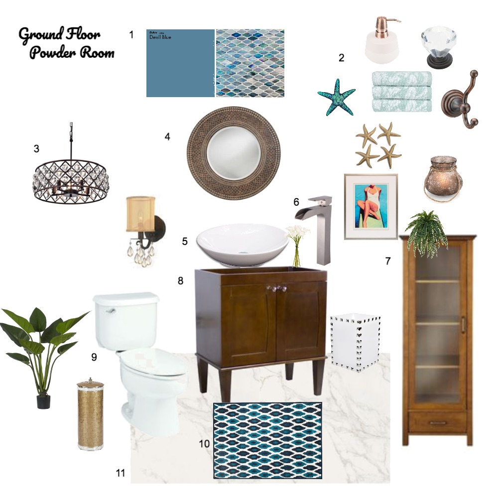 Powder Room Mood Board by kgamble on Style Sourcebook