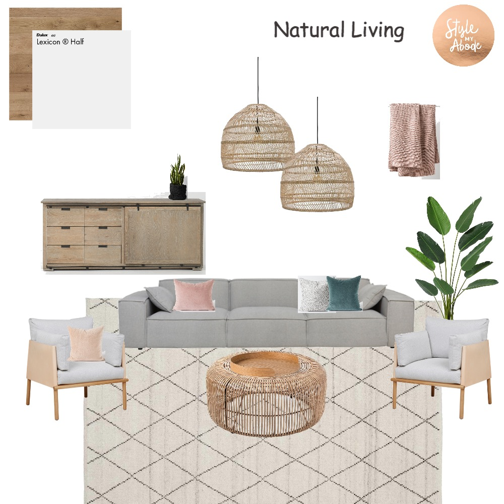 Natural Living Interior Design Mood Board by Style My Abode Ltd on Style Sourcebook