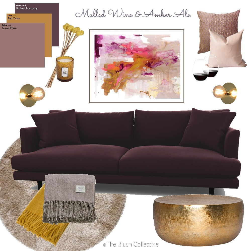 Mulled Wine & Amber Ale Mood Board by TheBlushCollective on Style Sourcebook