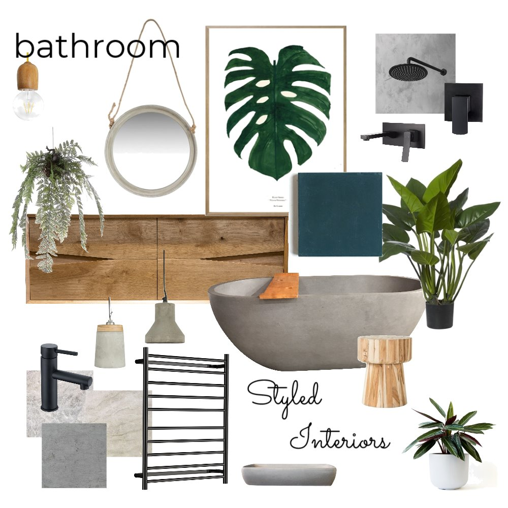 My bathroom inspo Interior Design Mood Board by StyledInteriors on Style Sourcebook