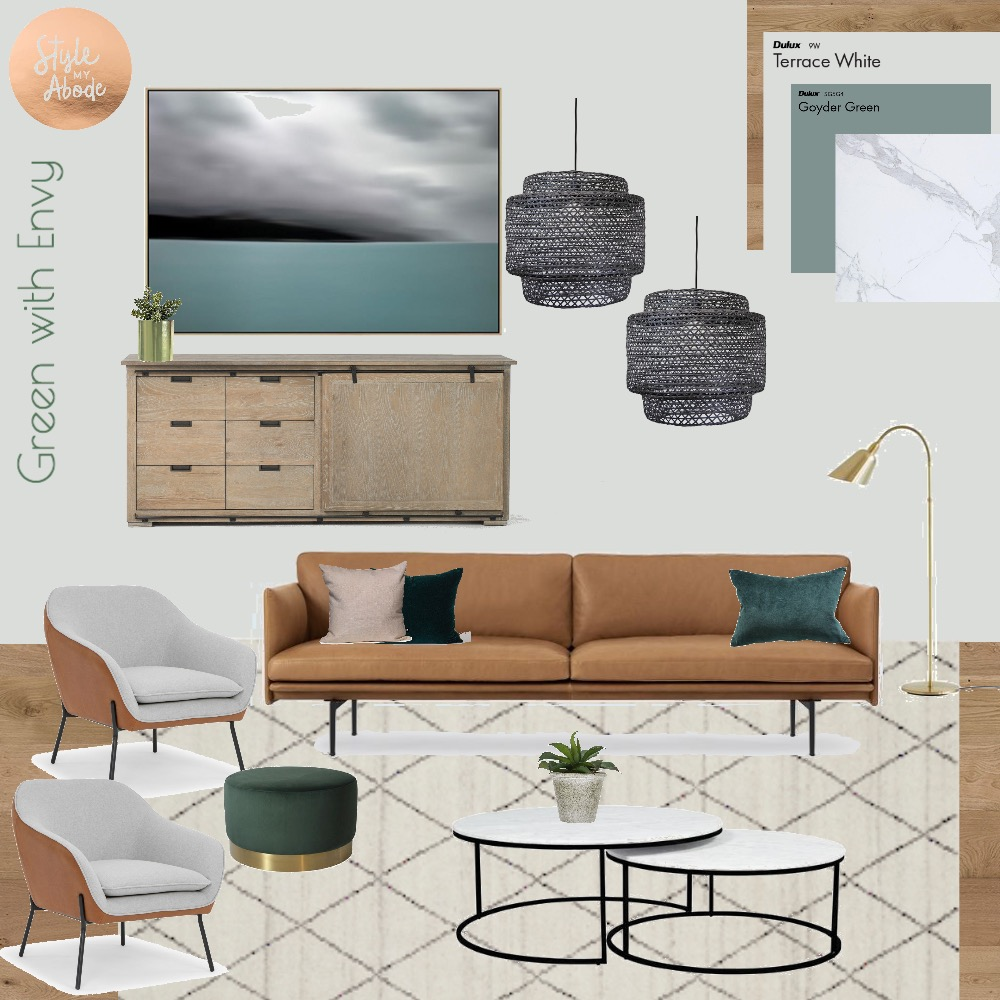 Green with Envy Mood Board by Style My Abode Ltd on Style Sourcebook