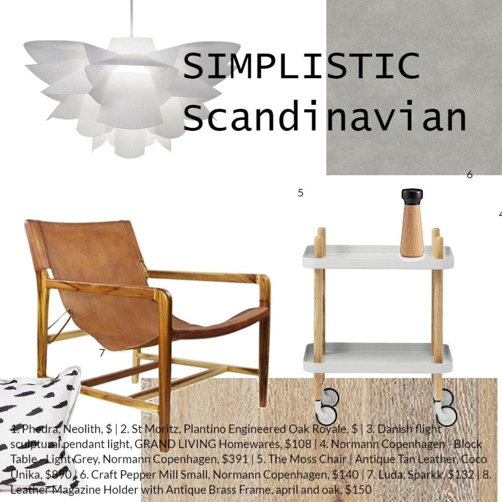 Simplistic Scandinavian Mood Board by Coco Unika on Style Sourcebook